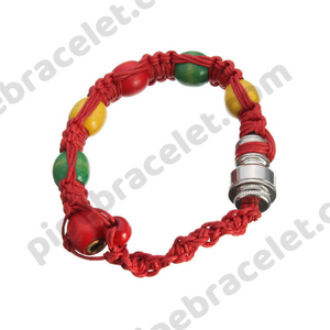 Red Rasta Pipe Bracelet
