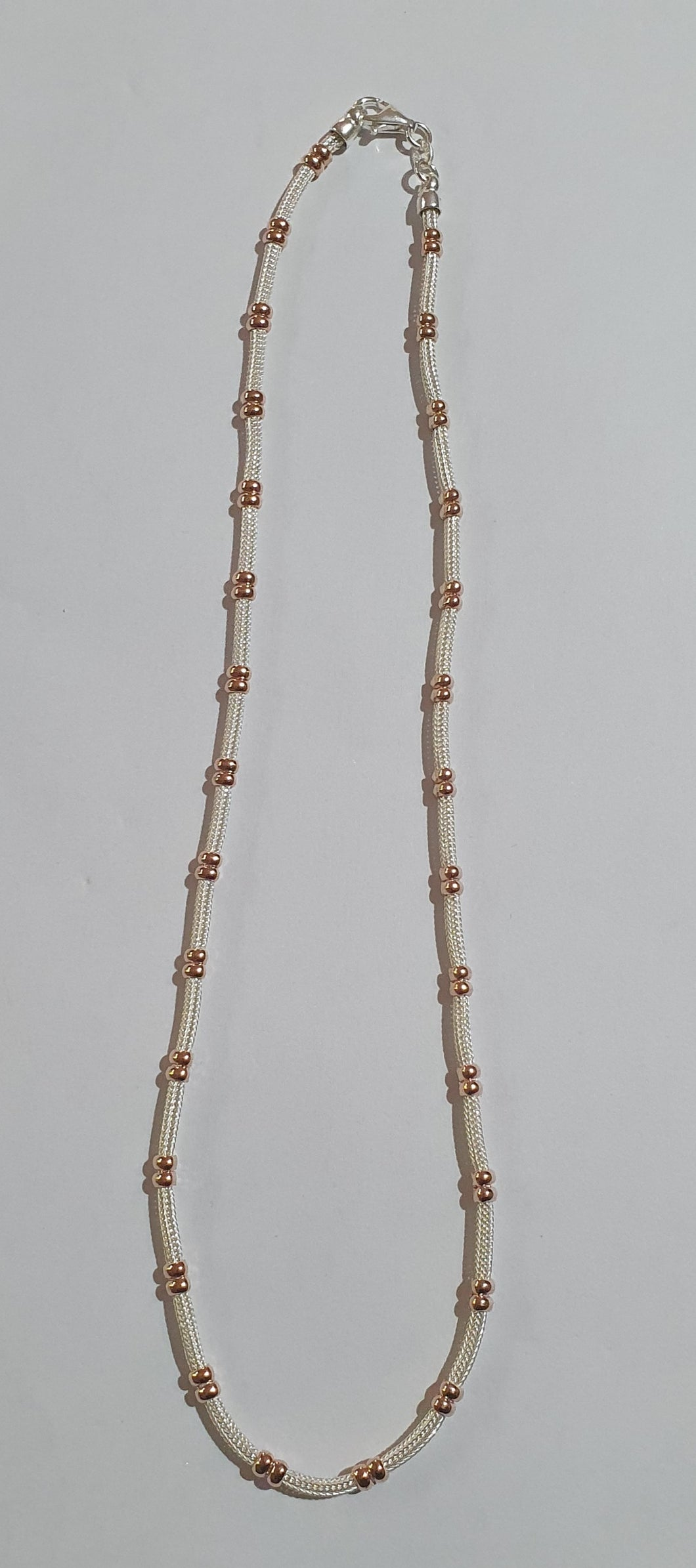 Silver and rose gold choker