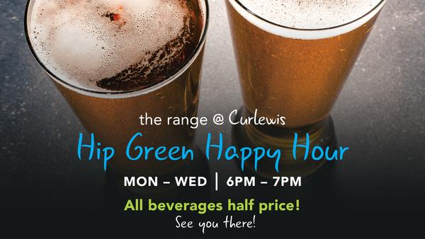 Hip Green Happy Hour