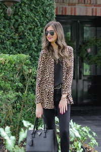 Lovely Leopard Print Cardigan