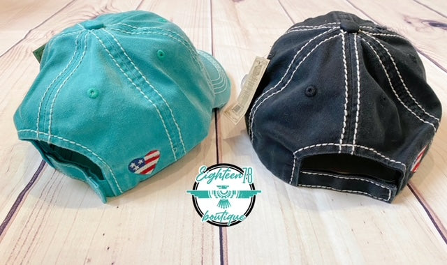 All American Babe Vintage Distressed Baseball Cap
