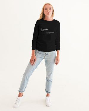 def liberia Women's Graphic Sweatshirt