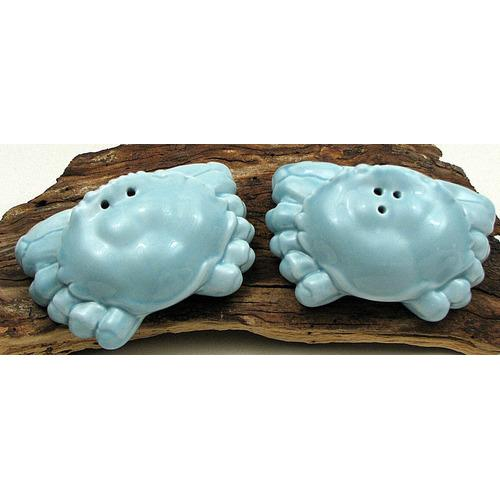 Ceramic Blue Crab S & P Set