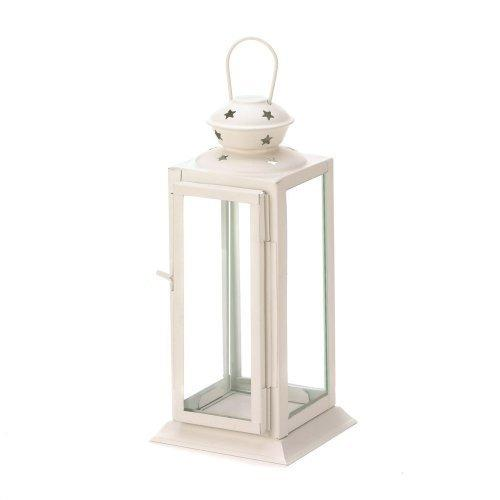 White Colonial Rectangle Lantern (pack of 1 EA)