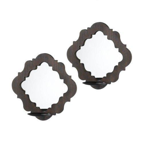 Damask Mirrored Wall Sconces (pack of 1 PR)