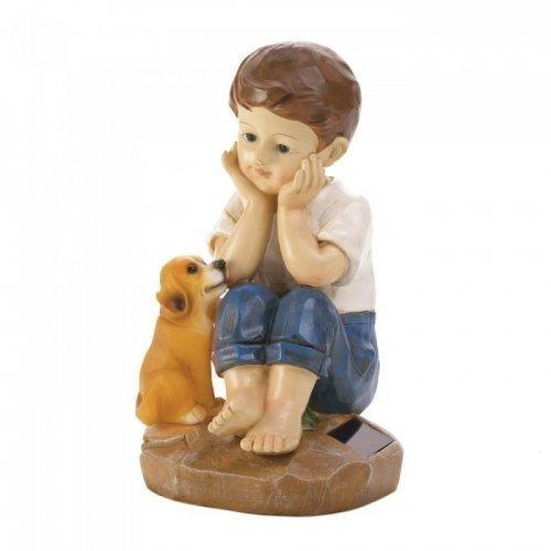 My Pup And I Solar Figurine (pack of 1 EA)