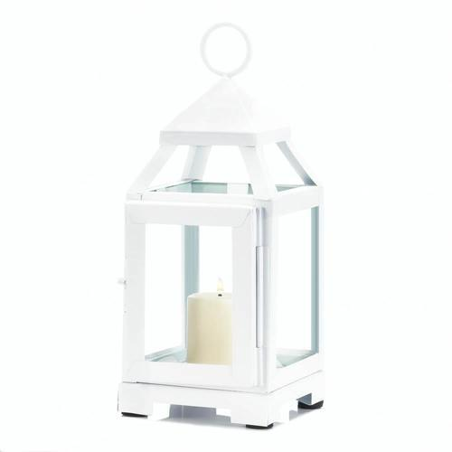White Mini Contemporary Lantern