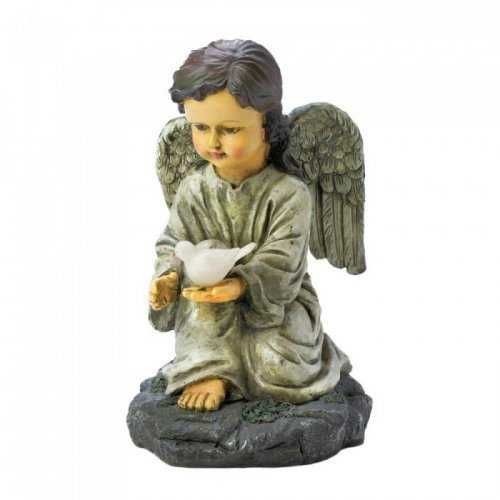 Solar Angel With Dove (pack of 1 EA)