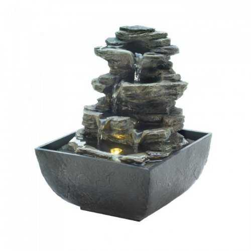 Tiered Rock Formation Tabletop Fountain (pack of 1 EA)