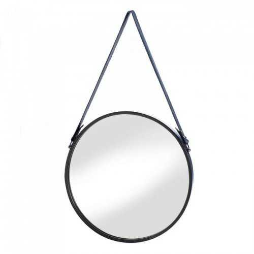 Hanging Mirror With Faux Leather Strap (pack of 1 EA)