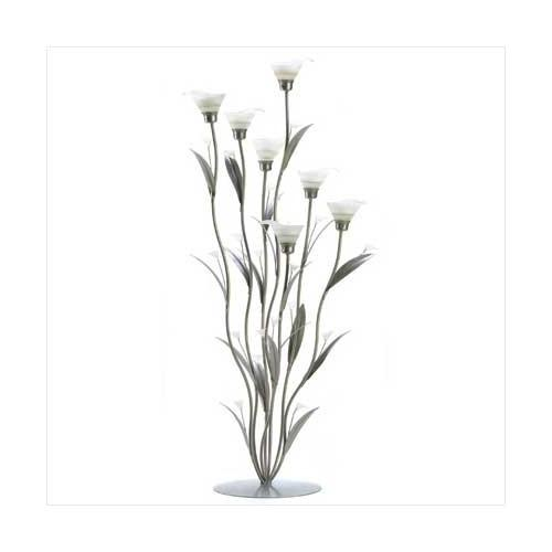 Silver Calla Lily Candleholder (pack of 1 EA)