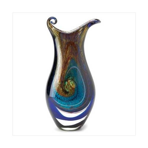 Galaxy Art Glass Vase (pack of 1 EA)