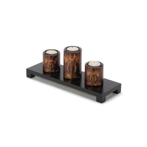 Elephant Tealight Candleholders Set (pack of 1 SET)