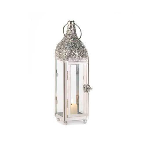 Polished Metal Candle Lantern (pack of 1 EA)