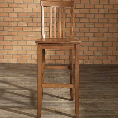 Set of 2 - Solid Hardwood 30-inch BarStool in Classic Cherry Finish Wood