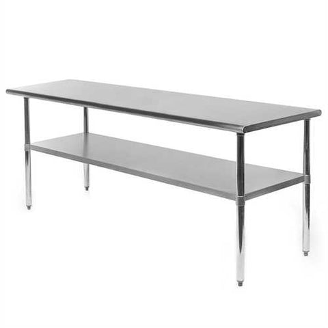 Heavy Duty 72 x 24 inch Stainless Steel Kitchen Restaurant Prep Work Table