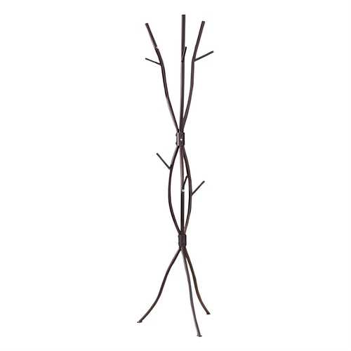 Tree Branch Metal Coat Rack Hat Stand in Bronze Finish