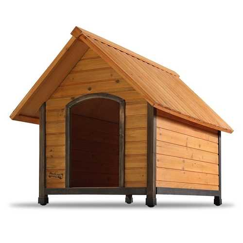 Outdoor A-Frame Wood Dog House Weather-Resistant - Small Dogs up to 25 lbs