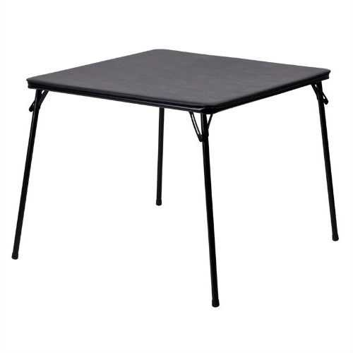 Black Multi-Purpose Folding Table - Great for Playing Card Games or Poker Table