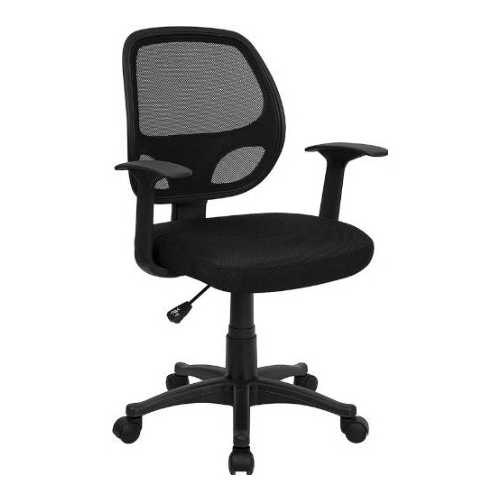 Black Mesh Mid-Back Office Chair