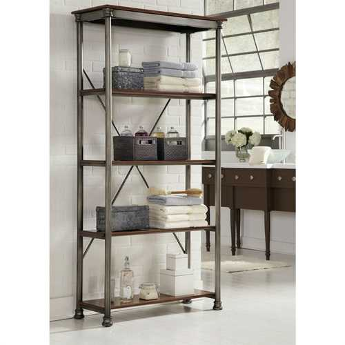 Heavy Duty Metal Wood 5-Shelf Storage Rack Shelving Unit