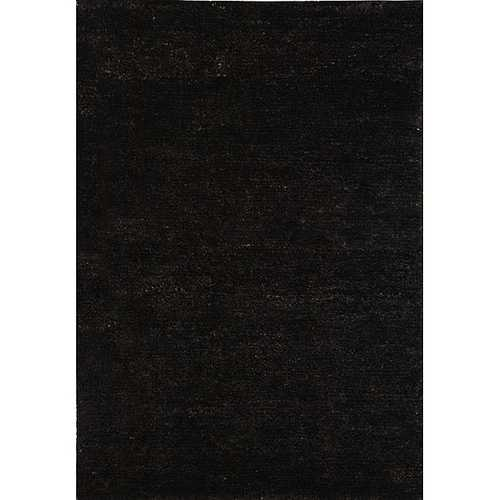 Hand-knotted Vegetable Dye Solo Liquorice Hemp Rug (5' x 8')
