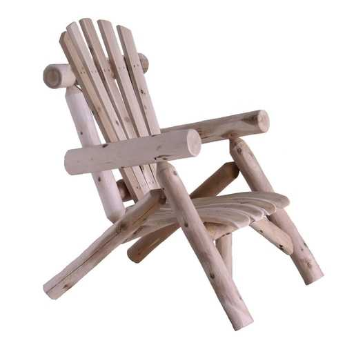 Outdoor Adirondack Style Cedar Log Lounge Chair - Made in USA