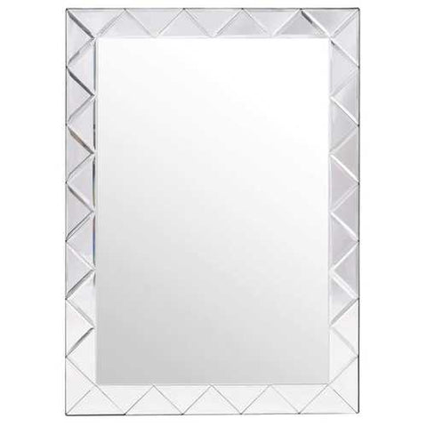 Modern Rectangle 30 x 21 inch Beveled Bathroom Wall Mirror
