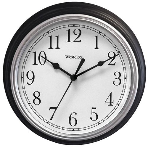 Westclox 46991A 9 Decorative Wall Clock (Black)