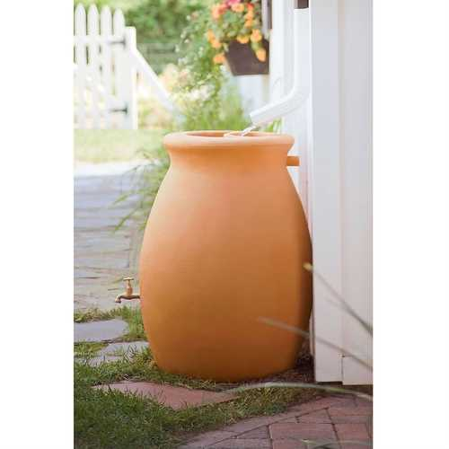 50 Gallon Rainwater Urn Style Rain Barrel with Spigot