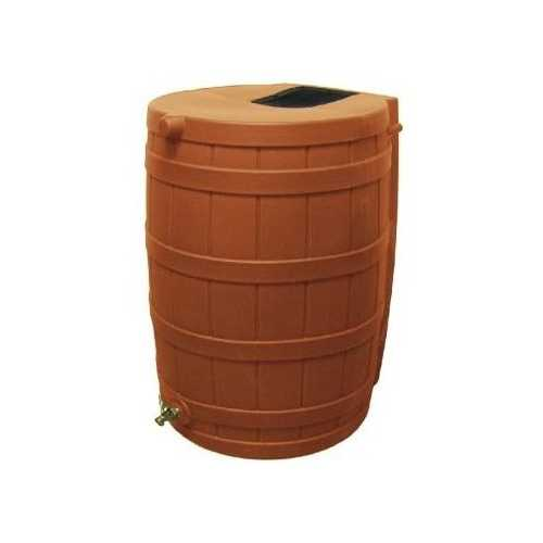 Terra Cotta 50-Gallon Rain Wizard Rain Barrel