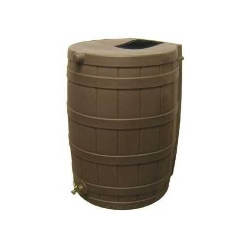 50-Gallon Rain Wizard Rain Barrel in Oak
