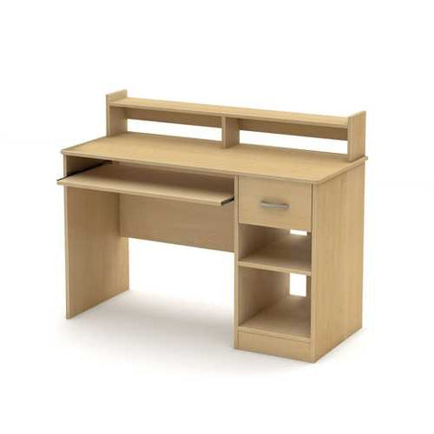 Home Office Computer Desk in Natural Maple Wood Finish