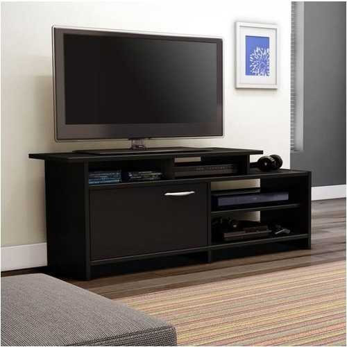 52-inch Modern TV Stand in Black Finish