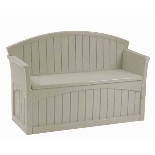 Outdoor Patio Garden Bench with 50-Gallon Storage Space Under Seat