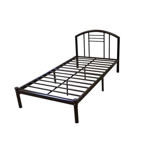 Twin size Platform Bed Frame with Headboard in Bronze Finish