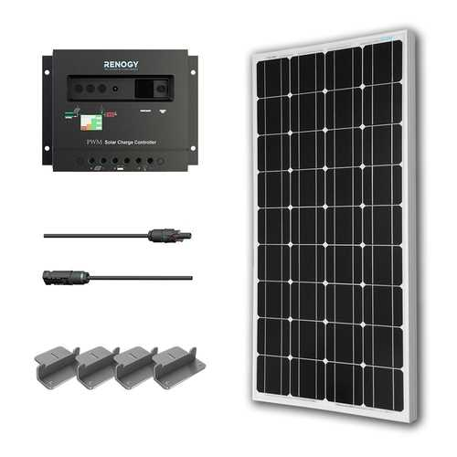 100-Watt Solar Panel with Charge Controller and Z Mounting Brackets