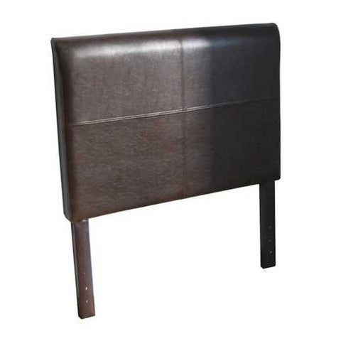 Twin size Brown Faux Leather Upholstered Headboard