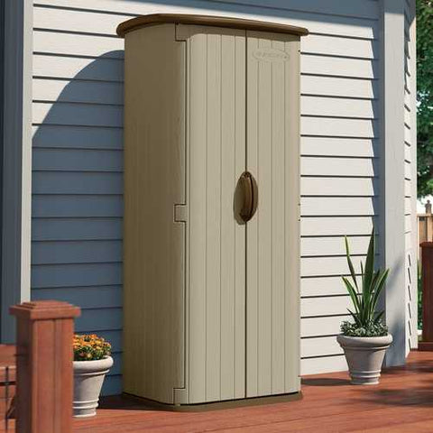 Durable Double Wall Resin Outdoor Garden Tool Storage Shed - Made in USA