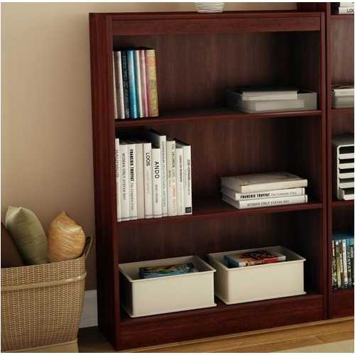 3-Shelf Bookcase in Royal Cherry - Made from CARB Compliant Particle Board