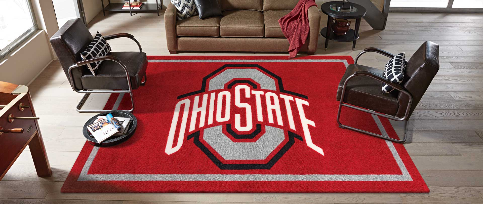 Luxury Sports Rugs College Logo Rugs Step Up Your Game
