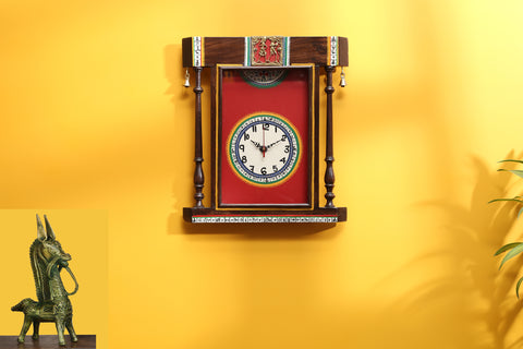 wall clock with warli art