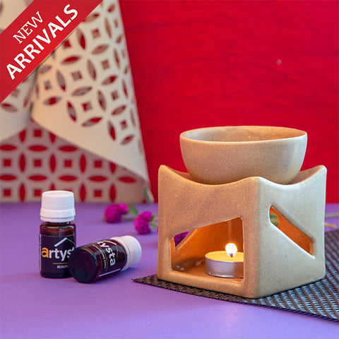 Handcrafted Ceramic Aroma Oil Diffuser Fondue with Fragrance | Aroma Diffuser Gift Item