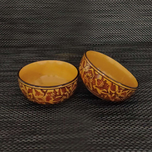 """KALAMKARI COLLECTION"" Mughal Art Serving bowls Set of 2 - artystagallery"