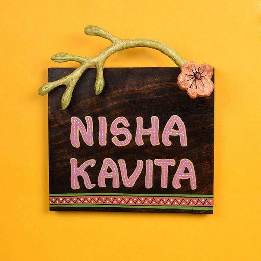 Customized Wooden Name Plate For Home