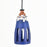Handcrafted Terracotta Bottle Shaped Pendant Cum Hanging Lamp In Azure Blue Color