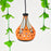 'Ethnic Lantern' Hand Crafted Terracotta Decorative Pendant Lamp Cum Hanging Lamp, Hand Made Hanging Light For Home Décor In Orange Color