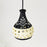 Dome Shaped Hand Crafted Terracotta Pendant Cum Hanging Lamp, Hand Painted Decorative Hanging Light in Black And White Color
