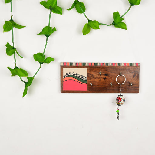 Handcrafted Traditional Hand Painted Wooden Key Holder | Key Hanger For Home Decor