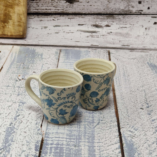 """Gzhel Blue Pottery"" Ceramic Cups Set Of 2"